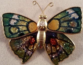 Butterfly Pin, Vintage Jewelry, Flying Insect Pin Gift, Vintage Butterfly Brooch