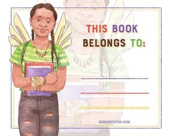 Bookplate | Black Girl | Sci Fi