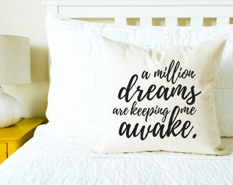 """The Greatest Showman """"A Million Dreams"""" Pillow - Movie, Gift for Her, Mom Gift, Pillow, Home Decor, Throw Pillow, Wedding Gift, Anniversary"""