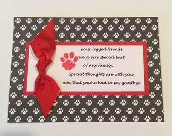 Dog Sympathy Card, Pet Sympathy Card, Loss of Pet,