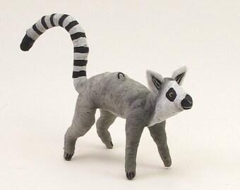 Vintage Style Spun Cotton Lemur Ornament/Figure (MADE TO ORDER)