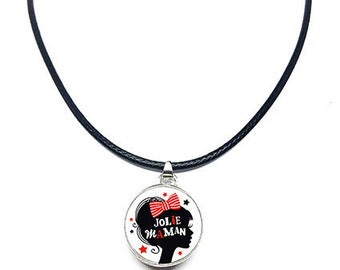 Snap button 18mm leather cord necklace