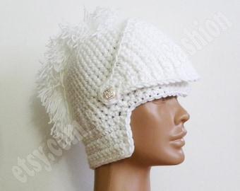 Winter Hats womens gift for her hats Knight Helmet Crochet Slouch White Beanie Hat Handmade Winter Snowboard Ski Bane Mask Face Warmer