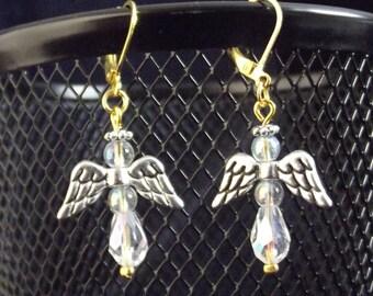 LAST CHANCE SALE!! Angel Earrings - Clear