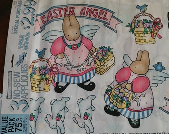 1993 Vintage Easter No-Sew Daisy Kingdom Easter Angel Appliques - Cutie Petooties