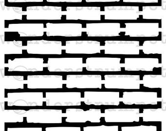 Grungy Brick Mortar Stencil