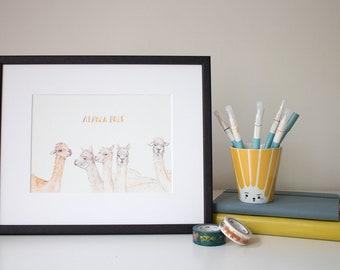 Alpaca Pals - unframed print