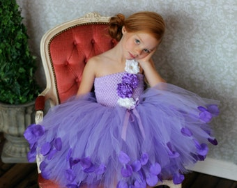 Purple Flower Girl Dress, Ultra Violet Wedding, Couture Dress, Purple Couture Flower Girl Dress, Tulle Flower Girl, Lavender Flower girl