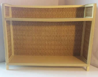 Vintage Rattan bathroom shelf