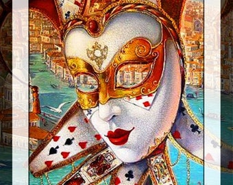 BUY 2 GET 1 FREE! Venecian Mask 272 Cross Stitch Pattern Counted Cross Stitch Chart, Pdf Format, Instant Download /220275