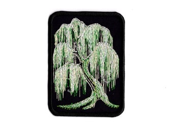 Weeping willow tree patch Iron to Sew on Badge