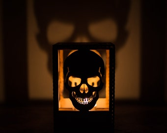Skull Tealight Projector Candle Holder