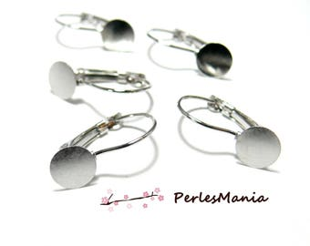 10 earring stud earring single tray 10mm silver plate quality ref 53