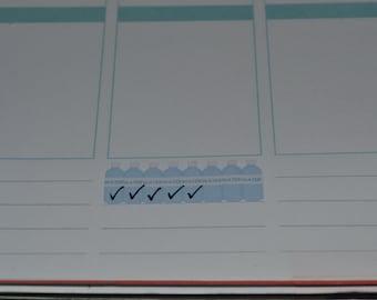 Planner Stickers: Hydration Water tracker