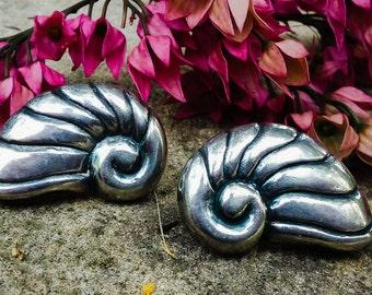 Sterling Silver William Spratling Shell Earrings A377
