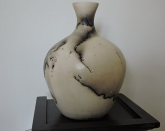 Horse hair decorated vase