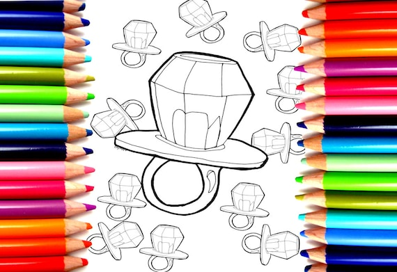 Ring Pop Candy Coloring Page High Quality INSTANT DOWNLOAD