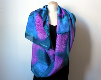 """22""""x 70"""" painted silk scarf"""