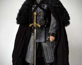 Game Of Thrones Jon Snow cosplay outfit, doll clothes, BJD clothes, bjd dress, medieval armor, GOT, Tonner, doll 1/4, SD, Msd.