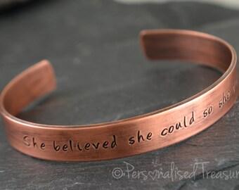 Personalized Womens Copper Cuff Bracelet, 7th wedding anniversary, Copper, Copper anniversary, 7th anniversary gift, Copper gift