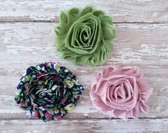 Set of 3 Hair Clips, Floral Hair Clips, Toddler Hair Clips, Infant Hair Bows, Hair Clip Set, Flower Clips, Girls Hair Clips, Spring Bows