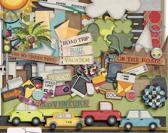 On The Go Travel Vacation Digital Scrapbook Kit
