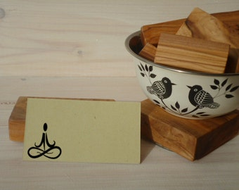 Yoga Me Olive Wood Stamp