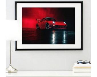Red RWB Porsche 993 Front Angle, automotive photography, automotive prints, car photography, car prints, german car, @richardlephoto