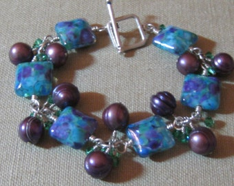 SALE Berries on the Vine Cluster Station Bracelet - B159