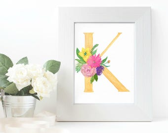 Watercolor Letter Painting