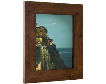 """Craig Frames, 20x26 Inch Dark Brown Picture Frame, Bauhaus 2"""" Wide (FM74DKW2026)"""
