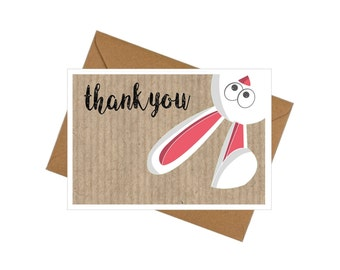 10 Pack Thank-you Cards with Envelopes - Hoppy