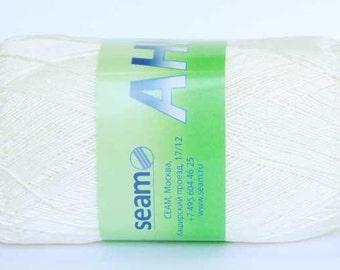 Crochet thread size 10, mercerized cotton, ANNA, 100g/ 579 yds #292 Off-White / Cream