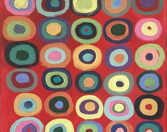 CIRCLE GAME, Kandinsky Style, Graphic Circles, Bright Colors