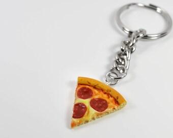 Pizza Slice Keychain / miniature food jewelry