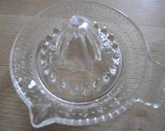 A Vintage French Glass Lemon Squeezer / Juicer