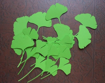 Die Cut Ginkgo Leaves 2c