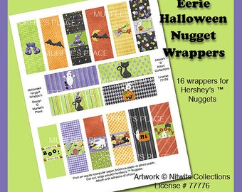E2 - Eerie Halloween Nugget Wrappers - Digital Download