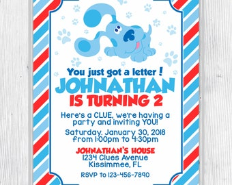 Blue's Clues Birthday Invitation