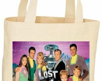 Lost in space vintage style custom tote bag