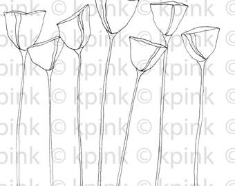 Poppies - I Dig Digi Stamp