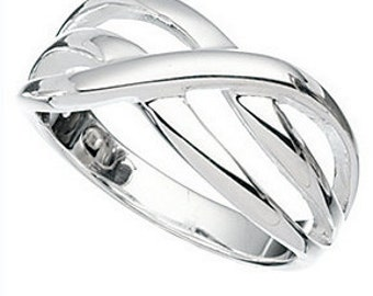 Thumb or Finger Twist Sterling Silver Ring all sizes see below