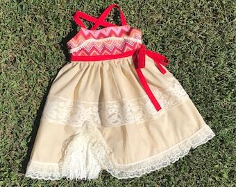 Polynesian princess dress - polynesian princess costume - moana costume - halloween costome - girls halloween costume - princess birthday