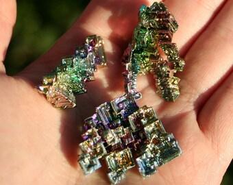 Rainbow Bismuth Crystal