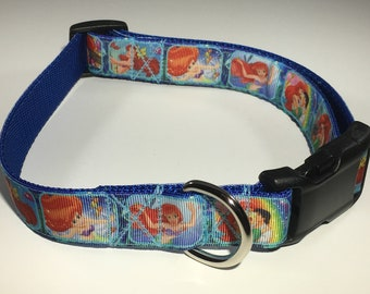 "The Little Mermaid 1"" Large Dog Collar"