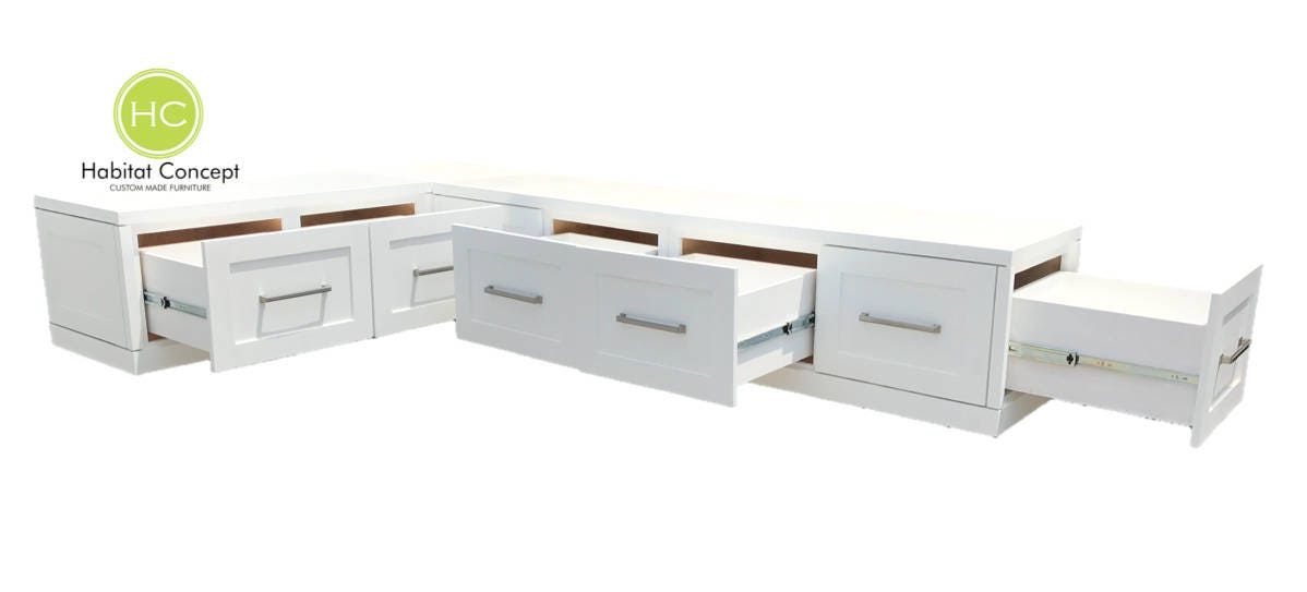 Unique Banquette Corner bench, kitchen seating, L shaped bench, breakfast  ZN23
