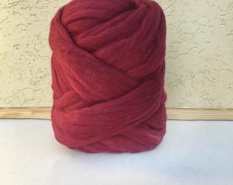 Bordeaux Chunky Yarn - Chunky Wool - Merino Wool Yarn - Super Chunky Yarn - Unspun Yarn - Unspun Wool - Chunky Yarn - Unspun Merino - Yarn
