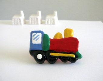 Red Train - Drawer Knob for kids room