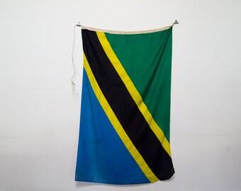 vintage military flag - tanzania