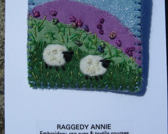 Yorkshire landscape brooch